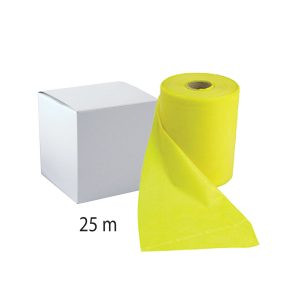 Banda elástica 25 mts YELLOW (Nivel 1) – Fisiomed®